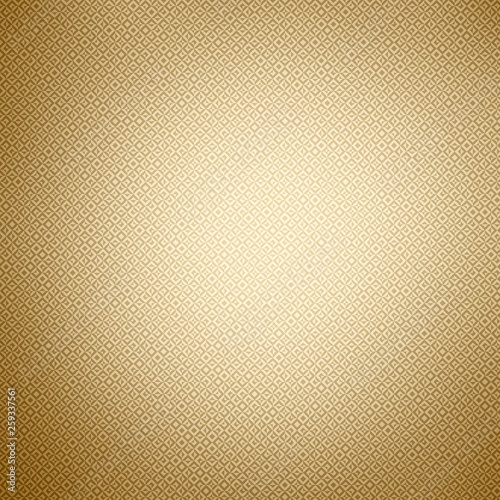 Golden background and gold print on shiny foil, texture.