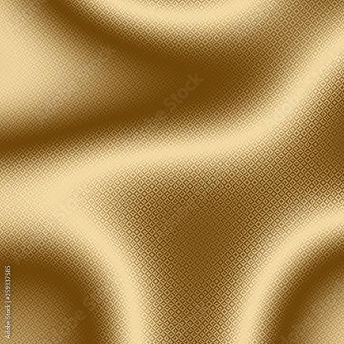 Golden background and gold print on shiny foil, pattern brass.
