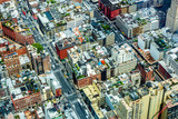 Aerial View to the streets of Lower Manhatten, New York City, USA