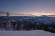 canvas print picture - Winterlandschaft im Sonnenuntergang