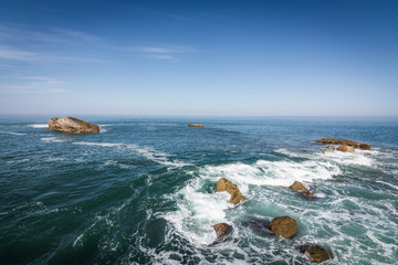 Vue sur la baie de Biarritz - Pays basque français © Yannick