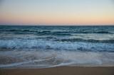 Atlantic ocean, front view of waves on the beach, Bretagne