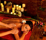 Massage and aromatherapy of woman in oriental renovation