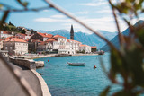 Beautiful photo of Perast town in Montenegro