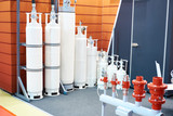 Cylinders modules for gas extinguishing