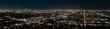 Quadro Los Angeles panoramic skyline by night