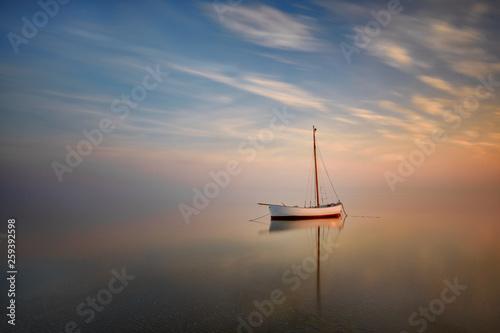 Lonely boat, Hel Peninsula, Baltic Sea, Poland