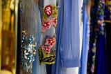 pano, modelo, mercado, tecido, moda, colorido, condecoração, vermelho, cor, tradicional, templo, arte, design, textura, roupa, pano, cachecol, sião, tailandês, porta, moda, velho, ásia, de ouro