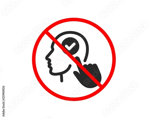 No or Stop  Head icon  Select user sign  Checkbox symbol  Prohibited