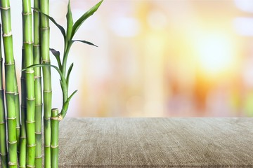 Many bamboo stalks on white background © BillionPhotos.com