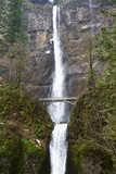 Multnomah Falls - waterfall in the forest