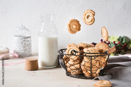 Vanilla Cookies on wooden table © anitty