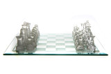 glass chess isolated