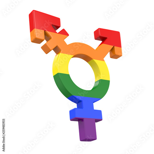 canvas print picture Transgender Symbol Isolated