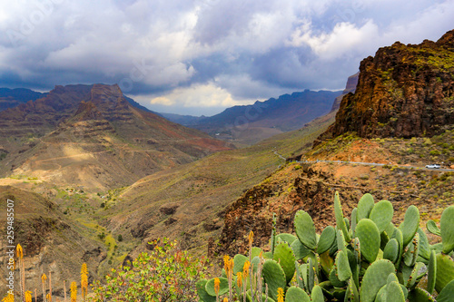 Summer landscape of mountains in Gran Canaria
