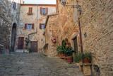 Cozy streets of Tuscany Italy