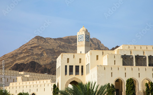 canvas print picture Oman: Uhrenturm