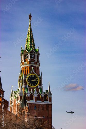 Russia, Moscow Kremlin, Spasskaya tower.