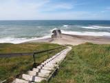 Treppe zum Strand an der dänischen Nordseeküste