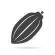 Cacao pod icon vector isolated