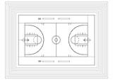 Fototapeta Fototapety sport - Basketball court © marko okjan