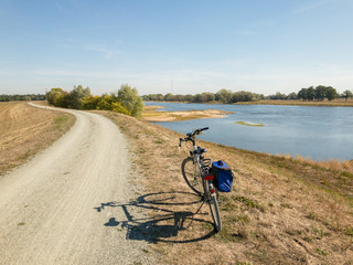 Biking at the River Elbe