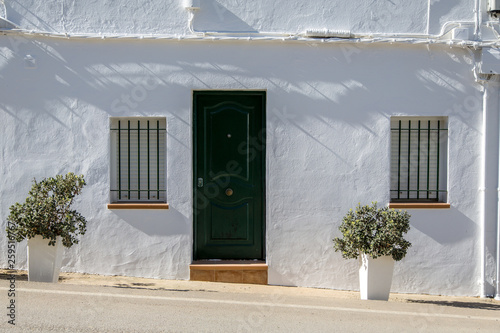 canvas print picture White Old House in Spain, Andalusia