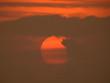sunrise in sky with cloud