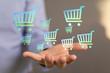 Leinwandbild Motiv online shopping