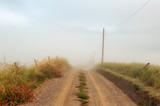 Fototapeta Rainbow - szutrowa polna droga znikająca we mgle © Kamil_k2p
