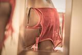 women's detail with sexy red underwear by valentine's day