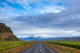 Route 1 Ring Road Southern Iceland Scandinavia with Eyjafjallajokull volcano in background