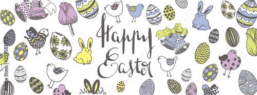 Happy easter doodles