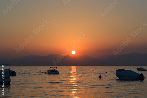 Most Beautiful Sunset Over Lake Garda, Italy!