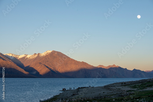 Lake Pangong in Ladakh, India