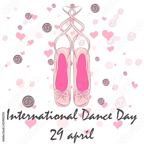 International Dance Day. April 29. Design template, banner, flyer, invitation, brochure © Michiru13