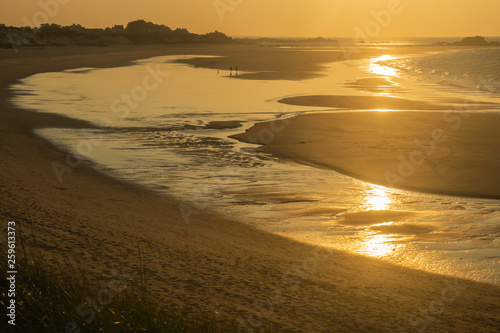 la promenade sur la plage
