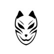 Japanese mask fox. Isolated vector art.