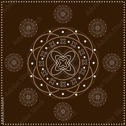 Abstract pattern, ornament, mandala. - 259639739