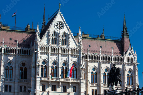 Hungary Parliament building in a beautiful sunny day