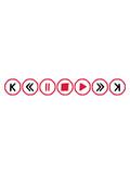 musik buttons kreise ringe tasten play pause vorspulen zeichen symbole zurückspulen tanzen party feiern spaß dj walkman abspielen video sound laut design cool