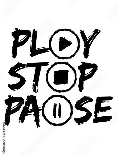 design play stop pause musik buttons kreise ringe tasten zeichen symbole tanzen party feiern spaß dj walkman abspielen video sound laut cool - 259649912