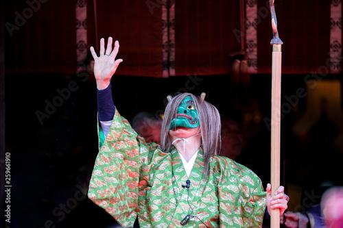 Oni, yōkai, mask, kimono, japanese, event © kou234122