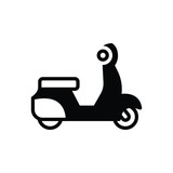 Black solid icon for scooter