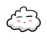 Bored Cartoon Cloud Emoticon