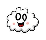 Very Happy Cartoon Cloud Emoticon
