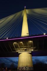 Ada bridge at night