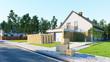 Leinwandbild Motiv Hausratversicherung bei Umzug ins Eigenheim