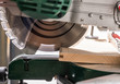Leinwandbild Motiv  Modern electric circular saw in the workshop