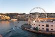 Quadro panoramic view of the port of genoa